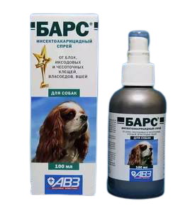 Барс спрей инсектоакарицидный для собак, 100мл