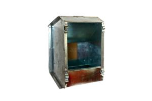 Кормушка бункерная оцинкованная металлическая односекционная с крышкой