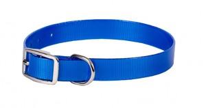Ошейник из биотана шир. 25мм, обх.шеи. 44-56,5см, синий