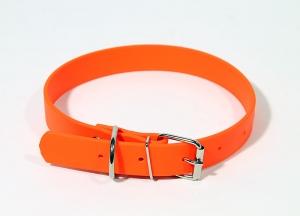Ошейник из биотана шир. 25мм, обх.шеи. 44-56,5см, оранжевый