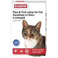 Beaphar Ошейник д/кошек против блох и клещей (синий)