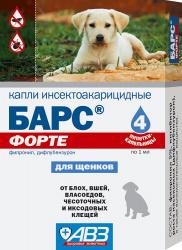 Барс ФОРТЕ, капли инсектоакарицидные для собак, 1 пип.
