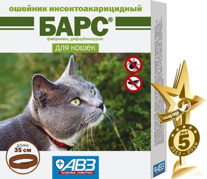 Барс, ошейник инсектицидный для кошек