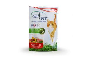 Корм сухой Cat Fit мясное ассорти, 500 г