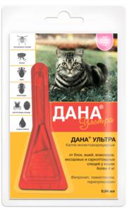 Дана ультра капли д/кошек и котят (более 4 кг), 1 пип.