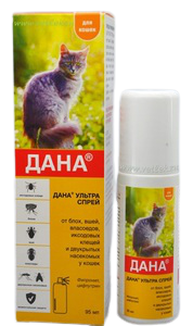 ДАНА Ультра спрей для кошек, 95 мл