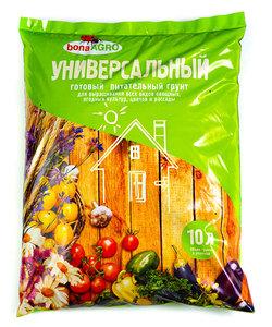 Универсальный готовый питательный грунт для выращивания всех видов овощных, ягодных культур, цветов и рассады, 10 л