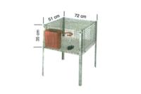Оцинкованная клетка для кролика