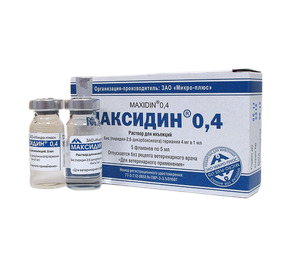Максидин 0,4% инъекционный, фл. 5мл